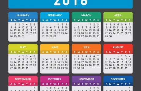 calendar showing all 12 months
