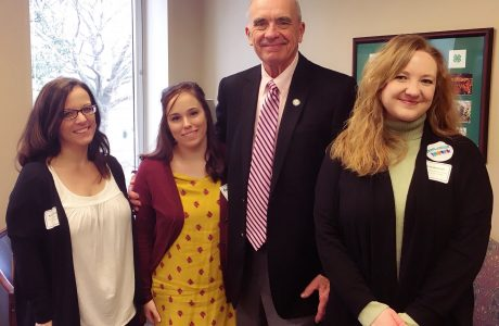 mhc staff with Delegate Charles Poindexter