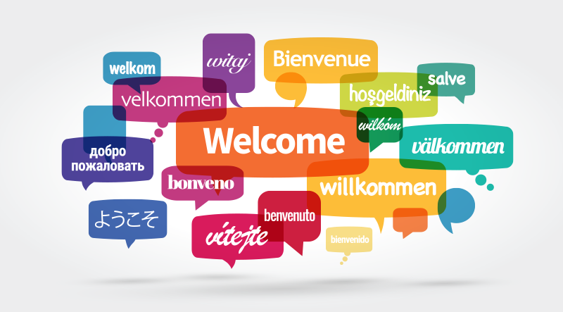the word welcome in different languages