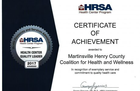 the Heath Center Program Certificate of Achievement