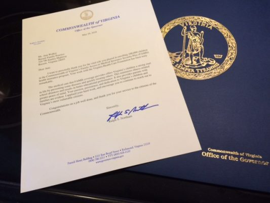 letter from Governor Ralph Northam