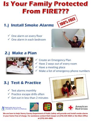 Free smoke alarm flyer