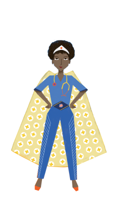 nurse with cape