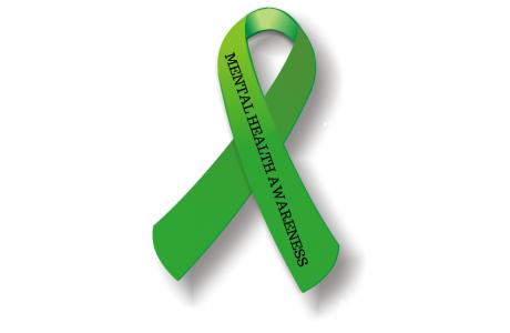 Mental Health Green Awareness ribbon