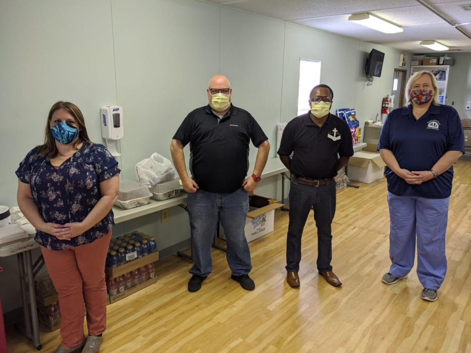 individuals in surgical masks